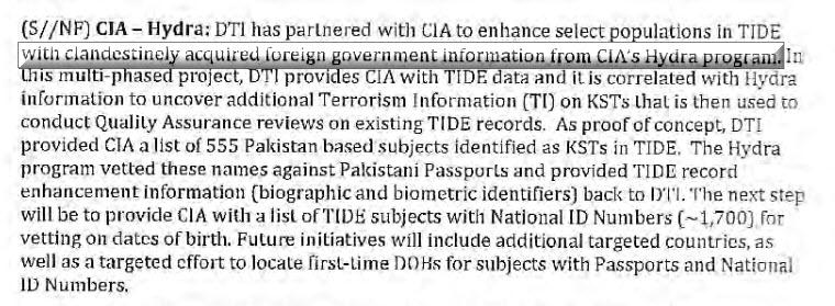 CIA HYDRA Program