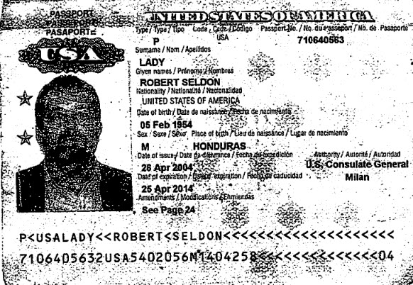 CIA Officer Robert Lady Passport